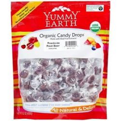 Yummy Earth Organic Candy Drops Gluten Free Roadside Rootbeer 13 Oz
