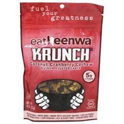 Eatkeenwa Krunch Quinoa Cluster Snack Coconut Cranberry Cashew 4 Oz