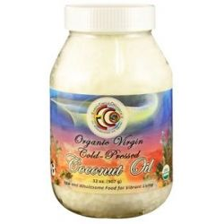 Earth Circle Organics Organic Virgin Cold Pressed Coconut Oil 32 Oz