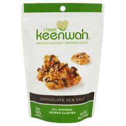 I Heart Keenwah All Natural Quinoa Clusters Chocolate Sea Salt 4 Oz