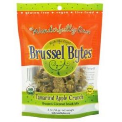 Wonderfully Raw Brussel Bytes Brussels Coconut Snack Mix Tamarind Apple Crunch