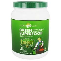 Amazing Grass Green Superfood Drink Powder 100 Servings Energy Lemon Lime 24