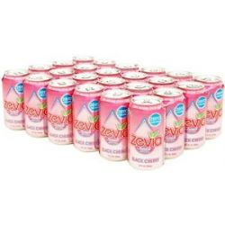 Zevia All Natural Soda Sweetened with Stevia 12 oz Cans Black Cherry Flavor