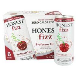 Honest Fizz Zero Calorie Soda Cherry Flavored Professor Fizz 6 x 12 oz Cans