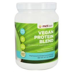 MCT Lean Vegan Protein Blend with Broccoli Seed Extract MCT Natural Vanilla