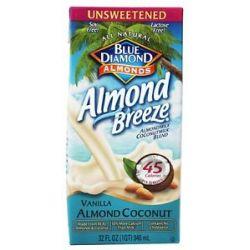 Blue Diamond Growers Breeze Almond Milk Unsweetened Vanilla Almond Coconut
