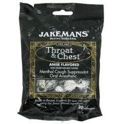 Jakemans Throat Chest Menthol Cough Suppressant Lozenges Anise 30 Lozenges