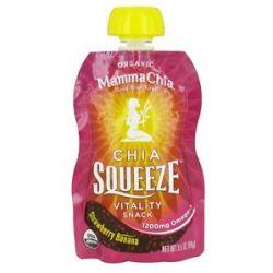 Mamma Chia Organic Chia Squeeze Vitality Snack Strawberry Banana 1200 MG 3
