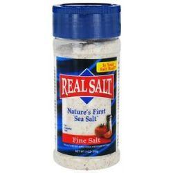 Real Salt Nature's First Sea Salt Shaker Fine Salt 9 Oz