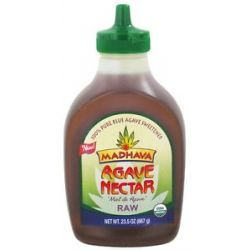 Madhava Natural Sweeteners Agave Nectar Raw 23 5 Oz