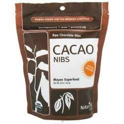 Navitas Naturals Cacao Raw Chocolate Nibs Certified Organic 8 Oz