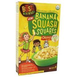 Bitsy's Brainfood Organic Rice Cereal Banana Squash Squares 6 7 Oz