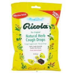 Ricola Natural Herb Cough Drops Original Natural Herb 50 Drops