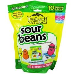 Yummy Earth All Natural Gluten Free Sour Jelly Beans 10 Pack S