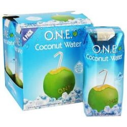O N E Coconut Water 100 Natural Fat Free 4 x 11 2 oz Cartons