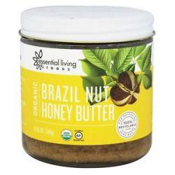 Essential Living Foods Organic Brazil Nut Honey Butter 12 Oz