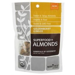 Navitas Naturals Superfood Goldenberry Ginger Almonds 4 Oz