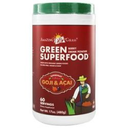 Amazing Grass Green Superfood Drink Powder 60 Servings Berry Flavor 17 Oz