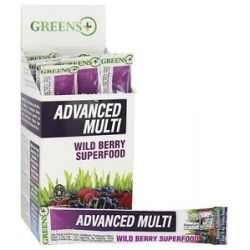 Greens Plus Advanced Multi Stick Pack Box Wild Berry Superfood 15 Stick S