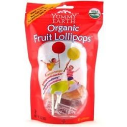 Yummy Earth Organic Lollipops Gluten Free Fruit Flavors 3 oz 85g 15