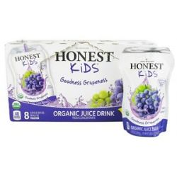 Honest Kids Organic Juice Drink Goodness Grapeness 8 x 6 75 Pouches
