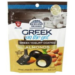 Rickland Orchards Greek on The Go Whole Almonds with Greek Yogurt Coating Dark