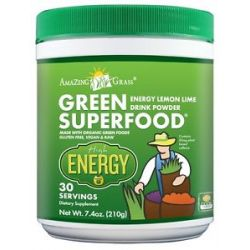 Amazing Grass Green Superfood Energy Drink Powder 30 Servings Lemon Lime 7 4