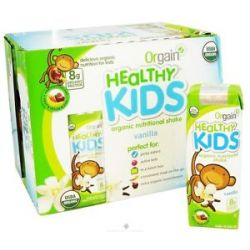 Orgain Healthy Kids Organic Ready to Drink Meal Replacement Vanilla 12 Pack