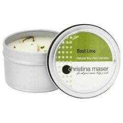 Christina Maser Natural Soy Wax Candle Basil Lime 6 Oz