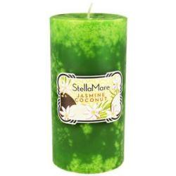 Stella Mare Pillar Candle 3x6 Jasmine Coconut 21 6 Oz