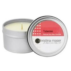 Christina Maser Natural Soy Wax Candle Tuberose 6 Oz