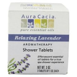 Aura Cacia Aromatherapy Shower Tablets Relaxing Lavender 3 Oz
