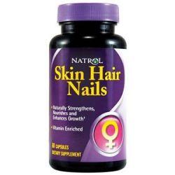 Natrol Skin Hair Nails 60 Capsules
