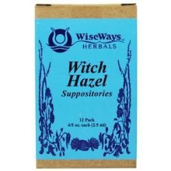 Wise Ways Witch Hazel Suppositories 12 Pack S
