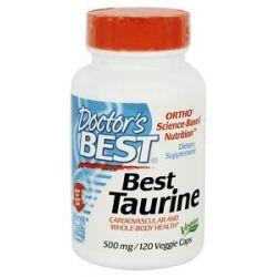 Doctor's Best Best Taurine 500 MG 120 Vegetarian Capsules