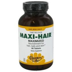 Country Life Maxi Hair Maximized Time Release 90 Tablets