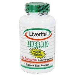 Liverite Products Liver Aid Milk Thistle 150 Capsules