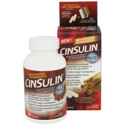 Cinsulin Water Extract of Cinnamon Advanced Strength 60 Capsules