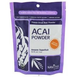 Navitas Naturals Freeze Dried Acai Powder Certified Organic 4 Oz