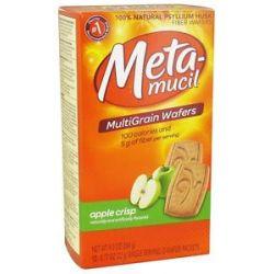 Metamucil Multigrain Fiber Wafers Apple Crisp 12 x 77 oz Packets