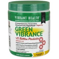 Vibrant Health Green Vibrance Version 14 3 Daily Superfood 6 4 Oz