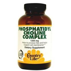 Country Life Phosphatidyl Choline Complex 1200 MG 100 Softgels