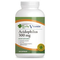Luckyvitamin Acidophilus Probiotic Complex 300 MG 100 Capsules