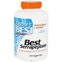 Doctor's Best Best Serrapeptase 40000 IU 270 Vegetarian Capsules