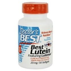 Doctor's Best Best Lutein Featuring Lutemax 20 MG 30 Softgels