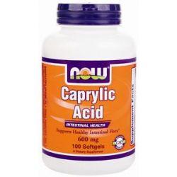 Now Foods Caprylic Acid Intestinal Health 600 MG 100 Softgels