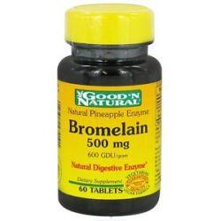 Good 'N Natural Pineapple Enzyme Bromelain 500 MG 60 Tablets