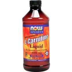Now Foods L Carnitine Liquid Triple Strength Citrus Flavor 3000 MG 16 Oz