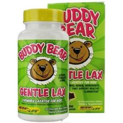 Renew Life Buddy Bear Gentle Laxative for Children Chocolate 60 Chewable