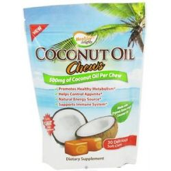 Healthy Natural Systems Healthy Delights Coconut Oil Chews 500 MG 30 Soft